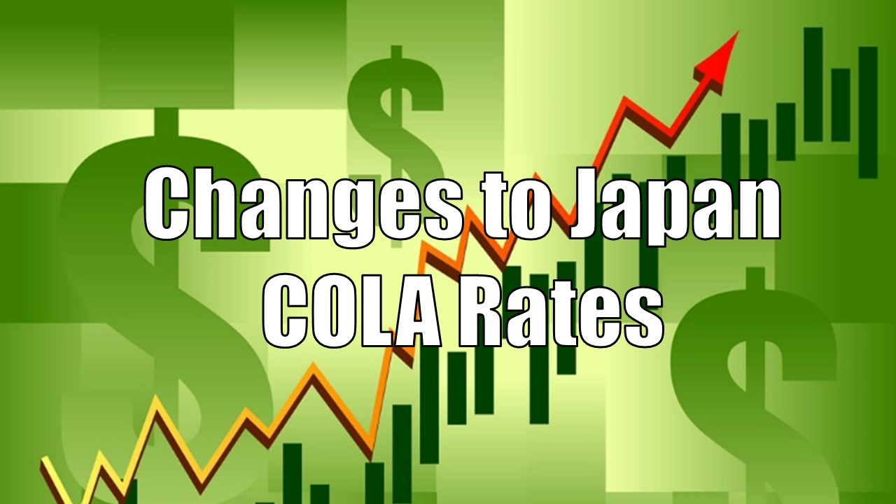 Japan COLA Rates Changing Soon